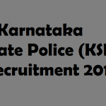 KSP Constable Recruitment 2017 Apply Online for 2038 Constable Posts at www.ksp.gov.in