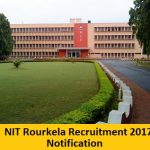 NIT Rourkela Recruitment 2017 Apply Online for 200 Assistant Professor Posts at www.nitrkl.ac.in