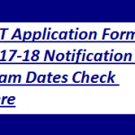 TET Application Form 2018 Notification Teachers Eligibility Test Exam Dates Check Here