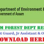 Assam Forest Department Result 2018 Download Forest Guard Cut-off Marks at forest.assam.gov.in