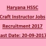 HSSC Craft Instructor Recruitment 2017 for 1399 Computer Instructor, Computer Operator vacancies at www.hssc.gov.in