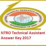 NTRO Technical Assistant Answer Key 2017 Check NTRO Technical Asst. Result at www.ntro.gov.in