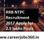 RRB NTPC Recruitment 2018 Notification Apply Online for 2.5 Lakh Vacancies at www.indianrailways.gov.in