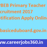 UP Primary Teacher Recruitment 2017 Notification Apply for UPBEB Teacher Posts at www.upbasiceduboard.gov.in