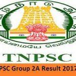 TNPSC Group 2A Result 2017 Download Tamil Nadu CCSE II Exam Cut-off Marks at www.tnpsc.gov.in