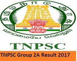 TNPSC Group 2A Result 2017 Download Tamil Nadu CCSE II Exam Cut-off