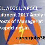 APDCL, AEGCL, APGCL Recruitment 2017 Apply for 274 Manager Posts at www.apdcl.net.in