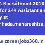 MHADA Recruitment 2018 Apply Online for 244 JE, Assistant Vacancies at www.mhada.maharashtra.gov.in
