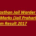Rajasthan Jail Prahari Result 2017 Download Prsion Guard Cut off Marks at www.policeuniversity.ac.in