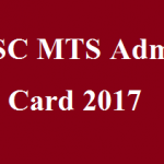 SSC MTS Admit Card 2017 for Multi Tasking Staff Tier-I Re-Exam Hall Ticket www.ssc.nic.in