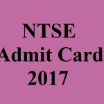 NCERT NTSE Admit Card 2017 Check NSTSE Exam Hall Ticket at www.ncert.nic.in