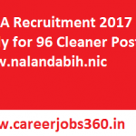 DRDA Recruitment 2017 Apply Online for 96 Cleaner Posts at www.nalandabih.nic