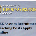 DEE Assam Teacher Recruitment 2018 Apply Online for 9513 Assam LP UP Teacher Vacancy at www.deeassam.gov.in