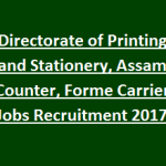 DPNS Recruitment 2017 Apply for 36 Counter & Forme Carrier Posts at www.dpns.assam.gov.in