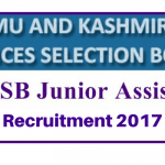 JKSSB Junior Assistant Recruitment 2017 Apply for 234 Assistant Storekeeper Cum Clerk and Assistant Operator Posts at www.jkssb.nic.in