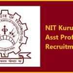 NIT Kurukshetra Recruitment 2017 Apply Online for 81 Assistant Professor Posts at www.nitkkr.ac.in