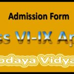 Jawahar Navodaya Vidyalaya Application Form 2017-18 JNVST Registration Form at www.jnshq.org