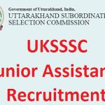 UKSSSC Junior Assistant Recruitment 2017 Apply for 198 Food Processing Inspector Posts at www.sssc.uk.gov.in
