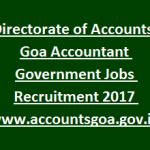 Goa GDA Accountant Recruitment 2017 Apply for 80 Accountant Posts at www.accountsgoa.gov.in