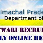 HP Patwari Recruitment 2017 Apply for 1120 Patwari Posts at www.himachal.nic.in