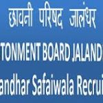 Cantonment Board Jalandhar Recruitment 2018 Apply Online for 154 Safaiwala Posts at www.cbjalandhar.org.in