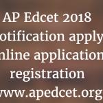 AP EDCET Application Form 2018 Andhra Pradesh EDCET Eligibility Criteria, Exam Dates at www.apedect.org