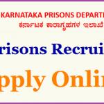 KPD Karnataka Jail Warder Recruitment 2018 Apply for 1102 Prison Warder Posts at www.kpdonline.co.in