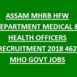 MHRB Assam Recruitment 2018 Apply for 462 Medical Officer Post at www.assam.gov.in