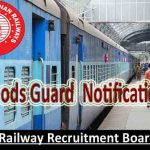 RRB Goods Guard Recruitment 2018 Apply for 1000+ Indian Railway Goods Guard Vacancy at www.indianrailways.gov.in