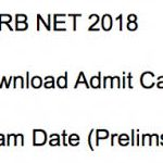 ASRB ARS & NET Hall Ticket 2018 Download ARS (Preliminary) and NET (I) Admit Card at www.asrb.org.in