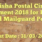 Odisha Postal Circle Recruitment 2018 Apply for 84 Postman/ Mail Guard Vacancies at www.odisha.postalcareers.in