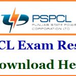 PSPCL Junior Engineer Result 2018 Download Punjab LDC JE SSA Exam Scorecard at www.pspcl.in