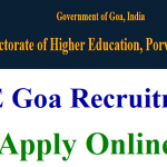 DHE Goa Assistant Professor Recruitment 2018 Apply for 142 Director, and Librarian Vacancies at www.dhe.goa.gov.in