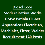 DMW Patiala Apprentices Recruitment 2018 Apply for 140 Act Apprentices Posts at www.dmw.indianrailways.gov.in