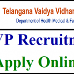 TVVP Civil Assistant Surgeon Specialist Recruitment 2018 Apply for 1133 CASS Post at www.vvp.telangana.gov.in