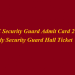MSSC Security Guard Admit Card 2018 Download MSSC Lady Security Guard Exam Hall Ticket at www.mahasecurity.gov.in