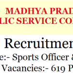 MPPSC Librarian Recruitment 2018 Apply Online For 619 Madhya Pradesh PSC Sports Officer Vacancies