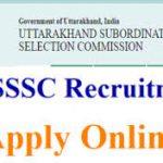 UKSSSC Forest Guard Recruitment 2018    Apply for 1218 Uttarakhand SSSC Forest Guard Posts at sssc.uk.gov.in