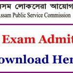 APSC Revenue Service Admit Card 2018 Download Inspector of Taxes Exam Hall Ticket at www.apsc.nic.in