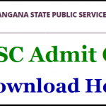TSPSC Asst. Statistical Officer Admit Card 2018 Download MPSO/ASO Exam Date at www.tspsc.gov.in