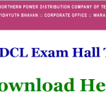 TSNPDCL SE Admit Card 2018    Download Sub Engineer and Assistant Engineer Exam Hall Ticket at www.tsnpdcl.in