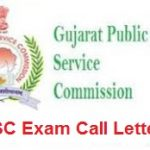 GPSC Clinical Psychologist Admit Card 2018 Check Gujarat PSC Assistant Professor Exam Hall Ticket at www.ojas.gujarat.gov.in