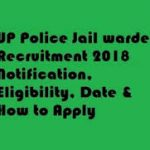 UP Police Jail Warder Recruitment 2018 Apply for Jail Warder Posts at www.prpb.gov.in