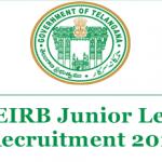 TS Gurukulam Jr. Lecturer Recruitment 2018 Apply for 281 Telangana Junior Lecturer Posts at www.treirb.telangana.gov.in
