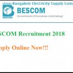 BESCOM Recruitment 2018 Apply Online for Junior Lineman, Junior Station Attendant, AEE Vacancies