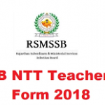 RSMSSB NTT Teacher Recruitment 2018 Apply for 1310 NTT Teacher Posts at www.rsmssb.rajasthan.gov.in