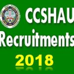 CCS HAU Group C Recruitment 2018 Apply Online for Clerk, Steno (Typist) Posts at www.hau.ac.in