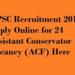 KPSC ACF Recruitment 2018 Apply for 24 Assistant Conservator Of Forests Posts at www.kpsc.kar.nic.in