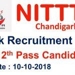 NITTTR LDC Recruitment 2018 Apply for Lower Division Clerk Post at www.nitttrchd.ac.in
