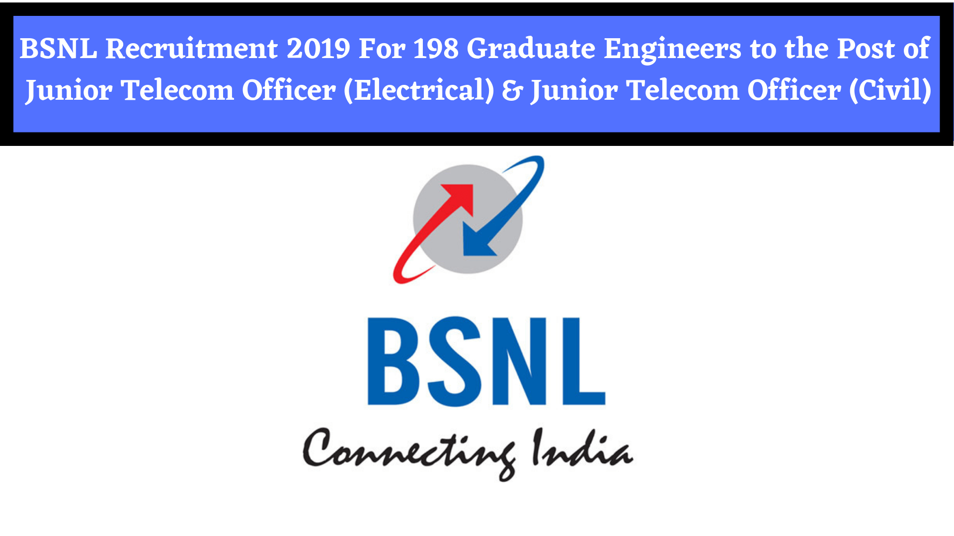 BSNL Recruitment 2019